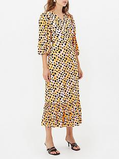 gestuz-uriel-leopard-print-wrap-dress-orange