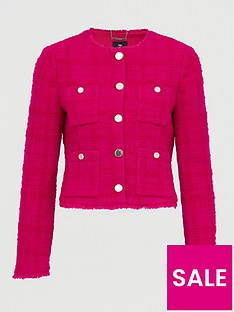 ted-baker-woolnbspjacket-with-patch-pockets-pink