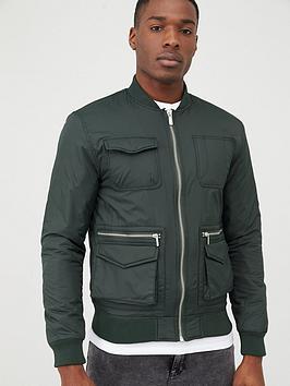 river-island-khaki-utility-bomber-jacket
