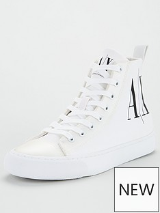 armani-exchange-logo-pump-white