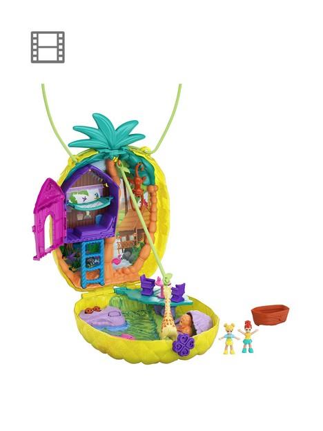 polly-pocket-polly-amp-lila-pineapple-safari-playset