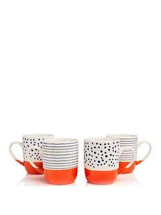 sabichi-tangerine-bone-china-set-of-4-mugs