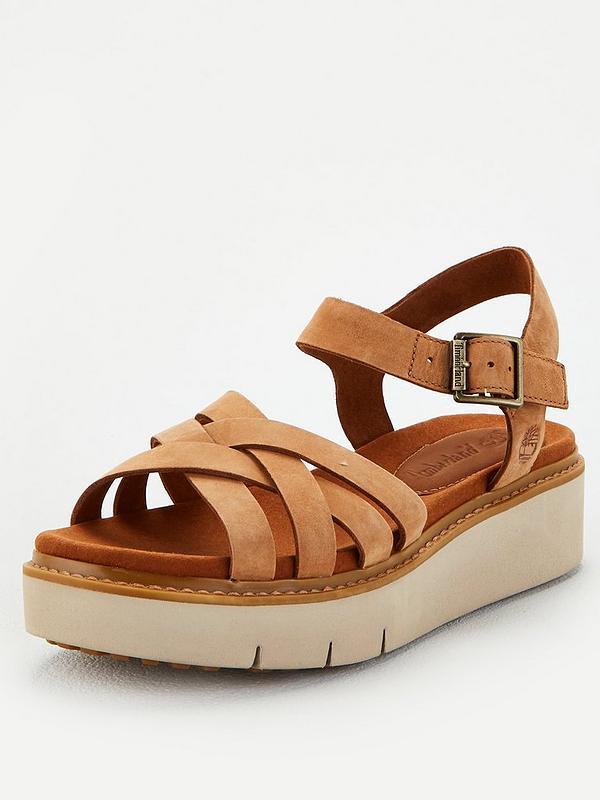 Intacto yo lavo mi ropa Perseguir  Timberland Safari Dawn Multi Chunky Flatform Wedge Sandal - Rust   very.co. uk