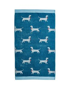 joules-sausage-dogs-combed-cotton-towel