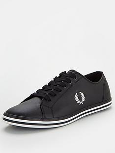 fred-perry-kingston-leather-trainers-black