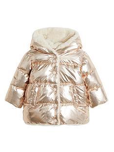 mango-baby-girls-faxu-fur-lined-metallic-coat-copper