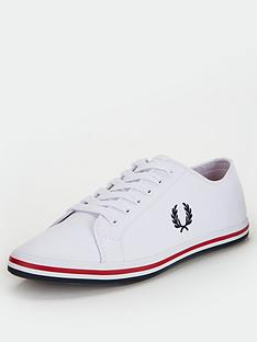 fred-perry-kingston-twill-trainers-white