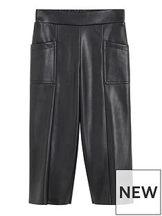 mango-girls-faux-leather-culotte-trousers-black