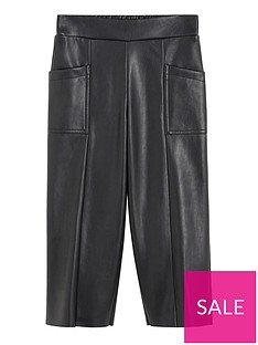 mango-girls-faux-leather-culotte-trousers-black