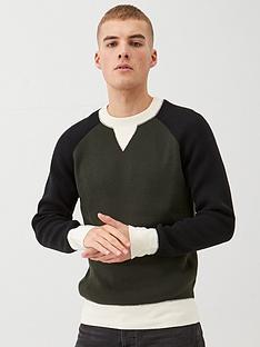 river-island-green-raglan-colour-blocked-knitted-jumper