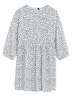 mango-girls-jersey-spot-print-dress-white