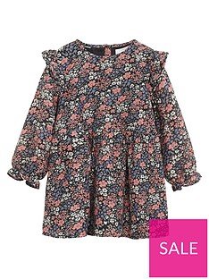 mango-baby-girls-floral-print-swing-dress-black