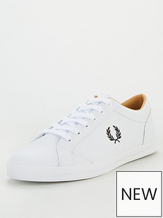 fred-perry-baseline-trainers-white