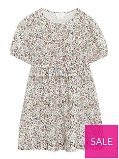 mango-girls-floral-print-tie-arm-dress-beige