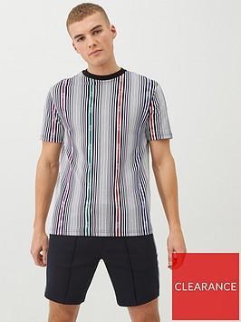 river-island-prolific-white-stripe-slim-fit-t-shirt
