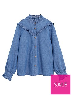mango-girls-ruffle-denim-shirt-medium-blue