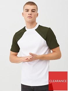 river-island-maison-riviera-khaki-raglan-slim-fit-t-shirt