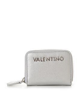valentino-by-mario-valentino-divina-small-purse-silver