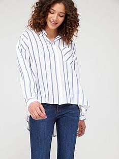 armani-exchange-striped-shirt-blue