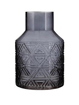 premier-housewares-complements-dakota-grey-glass-vase