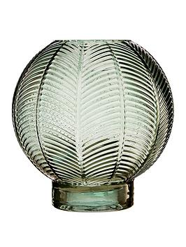 premier-housewares-complements-small-green-fern-glass-vase