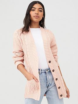 boohoo-boohoo-cable-boyfriend-button-up-cardigan-blush