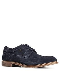base-london-onyx-suede-brogue-navy