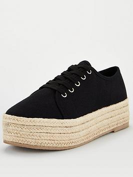 v-by-very-chunky-espadrille-canvas-trainer-black