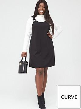 v-by-very-curve-stretch-pinafore-dress-black
