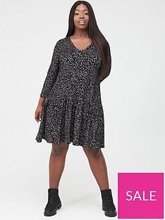 v-by-very-curve-animal-jacquard-dress-mono