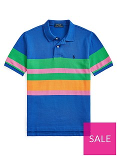 ralph-lauren-boys-short-sleeve-colour-block-polo-shirt-blue