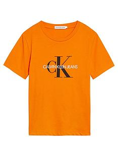 calvin-klein-jeans-unisex-monogram-short-sleeve-t-shirt-orange