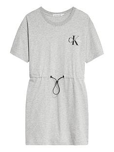 calvin-klein-jeans-girls-small-monogram-short-sleeve-dress-light-grey