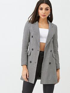 boohoo-boohoo-dogtooth-double-breasted-blazer-black