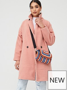 boohoo-boohoo-luxe-brushed-wool-look-button-through-coat-dusky-pink