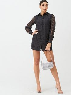 boohoo-boohoo-check-mesh-shirt-dress-black