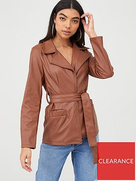 boohoo-boohoo-wrap-belted-faux-leather-jacket-tan