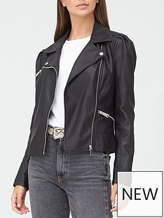 v-by-very-puff-sleeve-punbspjacket-black
