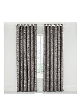 Product photograph showing Bedeck Of Belfast Dhaka Eyelet Curtains