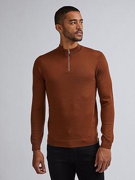 burton-menswear-london-burton-merino-half-zip-neck-jumper