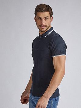 burton-menswear-london-tipped-collar-polo-shirt-navynbsp