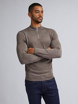 burton-menswear-london-burton-merino-half-zip-neck-jumper