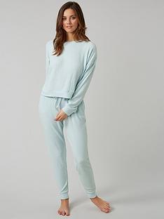 boux-avenue-rib-long-sleeve-top-and-jogger-pyjama-set-blue