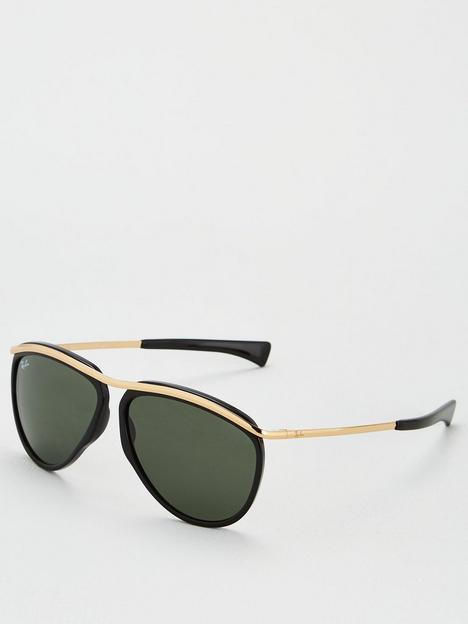 ray-ban-olympian-aviator-sunglasses-blackgold