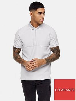 topman-tonal-collar-shortnbspsleeve-zip-polo-grey