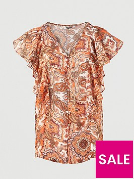 v-by-very-woven-button-through-blouse-paisley-print