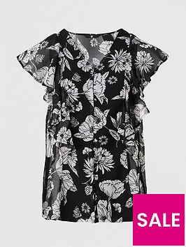 v-by-very-woven-button-through-blouse-black-floral