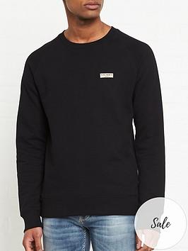 nudie-jeans-samuel-logo-crew-neck-slim-fit-sweatshirtnbsp--black
