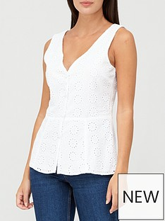 v-by-very-broderie-button-through-vest-ivory
