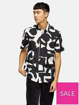 topman-short-sleeve-abstract-print-shirt-blackwhite